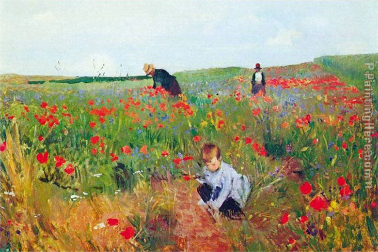 Poppies painting - Mary Cassatt Poppies art painting